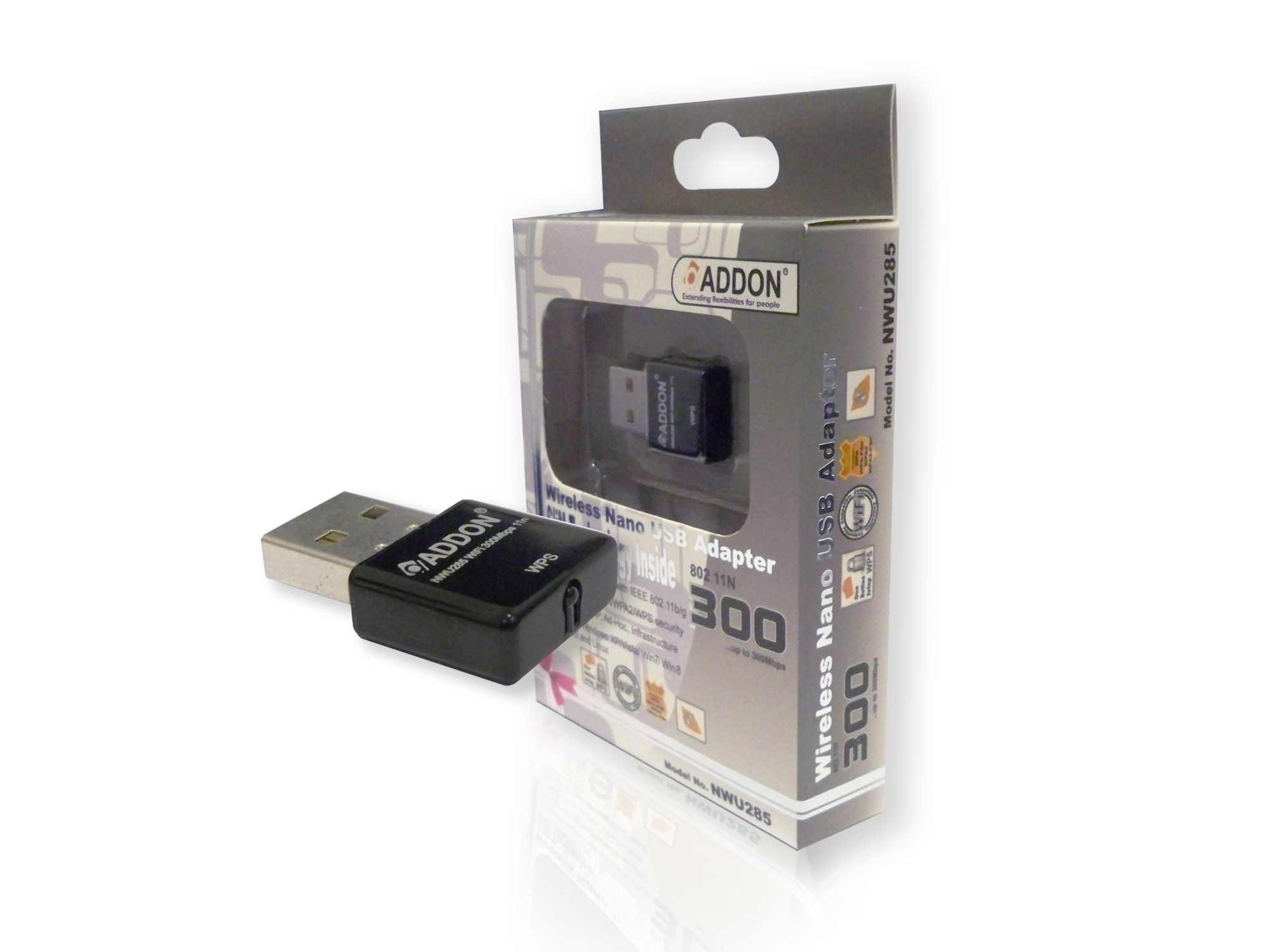 Nano wireless usb adapter driver - Addon Nwu285 11n 300mbps Wireless Usb Nano Adapter Mini Dongle