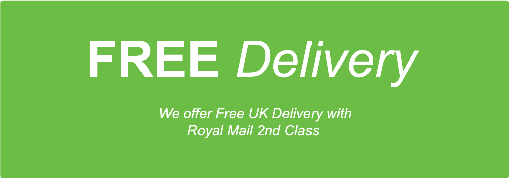 FREE Super Saver Delivery with Royal Mail 2nd Class Signed
